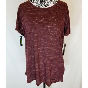 Nike Dri-Fit Burgandy Fleck Women's Legend T-Shirt